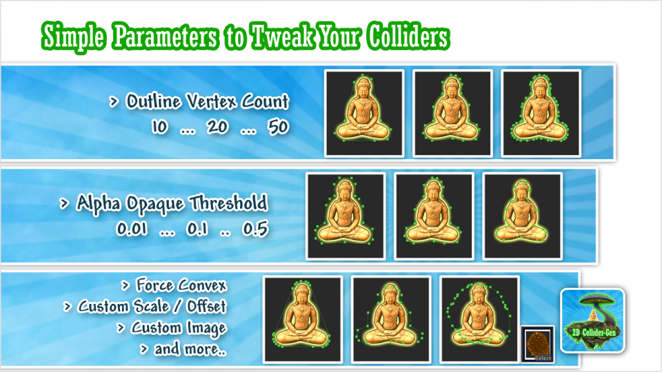 Simple Parameters to Tweak Your Colliders