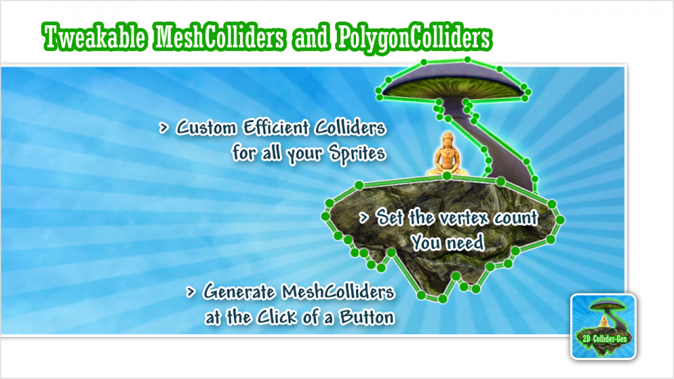 Tweakable Mesh and Polygon Colliders